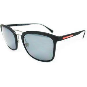 "PRADA ""Sport"": Black, Logo Polarized Aviator Sunglasses (n) Unisex"